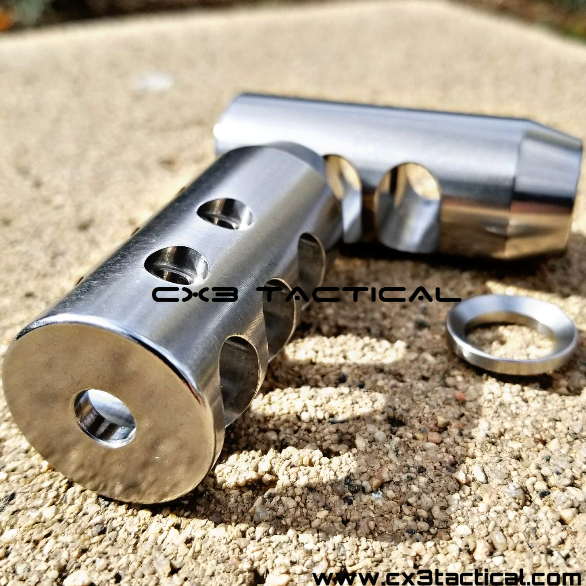 Ruger 10//22 Stainless Muzzle Brake For 10 22 1//2x28 TPI Stainless Steel Comp .22